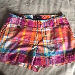 Polo girls plaid shorts